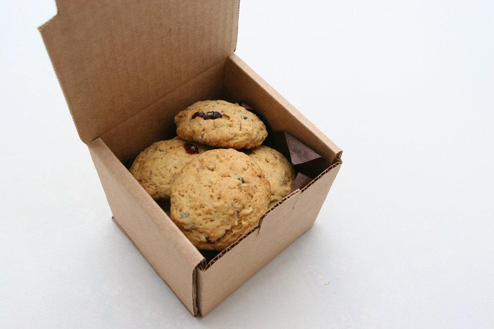 Коробка печенье на новый год